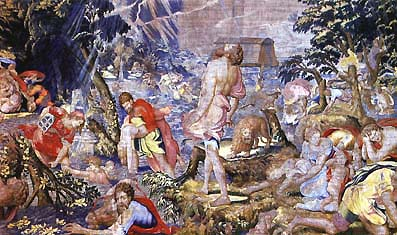 Noah's Ark, one of the Wawel royal tapestries