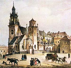 the Wawel Cathedral in the 19th century