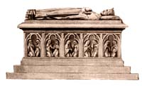 sarcophagus of King Vladislav I the Short in the Wawel Cathedral of Krakow