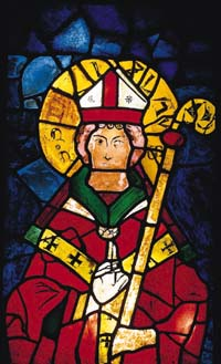St. Stanislaw in the 14th-century stain-glass window