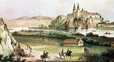 Tyniec Abbey, the 19th-century illustration
