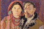 Stanislaw Wyspianski's self-portrait with wife in peasant costume