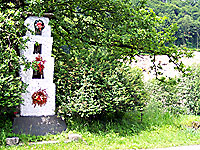 roadside shrine in the village of Krzeczow near Krakow