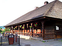 18th-century wooden inn in the town of Sucha Beskidzka