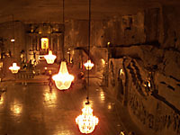 St. Kinga chapel in the Wieliczka salt mine