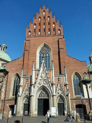 Holy Trinity Church in Krakow, Poland