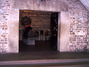 Vestibule and the crypt of Marshal Pilsudski at the Krakow Cathedral