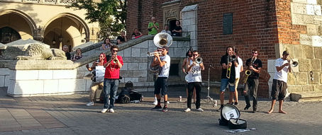 Jazzband in the Krakow central square
