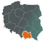the Malopolska province on the map of Poland