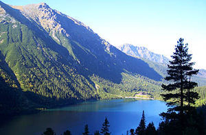 Morskie Oko lake in the Tatra Mountains, Poland