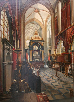 The chancel of the Krakow Cathedral in the mid-19th century