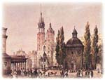 churches on the central square of Krakow